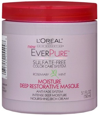 L,Oreal Paris HAIR EXPERTISE EVERPURE SULFATE FREE COLOR CARE SYSTEM MOISTURE DEEP RESTORATIVE MASK