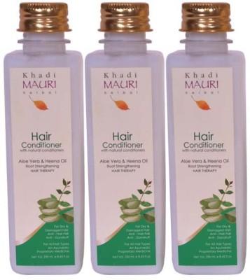 Khadimauri Herbal Hair Conditioner Pack of 3 Premium Ayurvedic & Natural 250 ml each