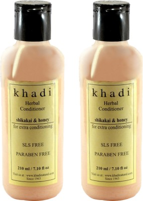 khadi Natural Shikakai Honey Conditioner - SLS and Parabens Free (Twin Pack)