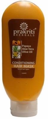 Prakriti Herbals Conditioning Papaya Aloevera Olive Oil Hairmask