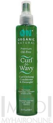 Organic Natural ON Curl N Wavy Avocado Curl Defining & Detangler