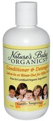 Nature's Baby Organics & Detangler Vanilla Tangerine Natures Baby Organics Liquid