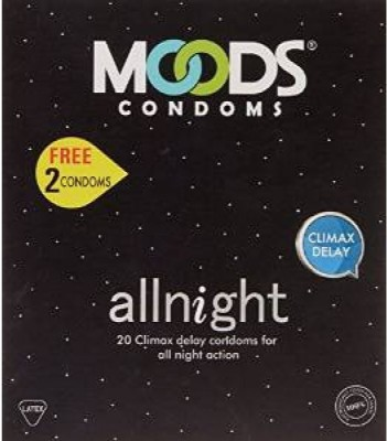 Moods All Night 20's Pack x 5 Condom