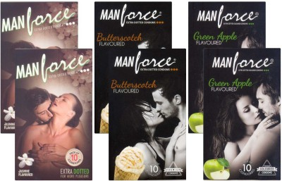 Manforce Jasmine, Butterscotch, GreenApple - CPFK1960 Condom