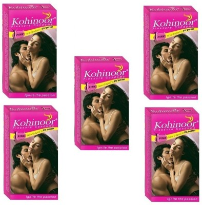 Kohinoor Pink Natural Shaped Better Fit Condom(Set of 5, 50S)