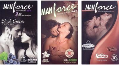 Manforce BlackGrape , Jamin, Coffee Condom