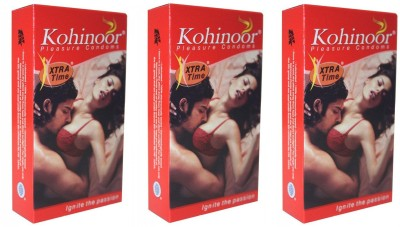 Kohinoor Extra Time Pleasure Condom(Set of 3, 30S)