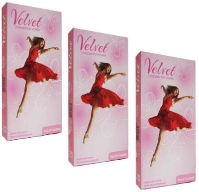 Moods Velvet Condom(Set of 3, 9S)