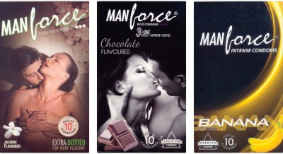 Manforce Jasmine, Chocolate, Banana Condom