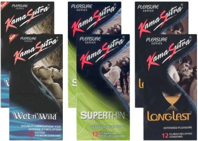 Kamasutra Wet n Wild, Superthin, Longlast - UPFK200046 Condom