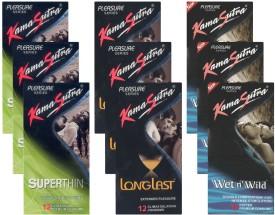 Kamasutra Superthin, Longlast, Wet n Wild - UPFK200342 Condom