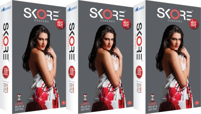 Skore Not Out Condom(Set of 3, 10S)