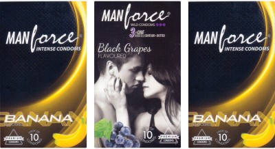 Manforce Banana, BlackGrape , Banana Condom