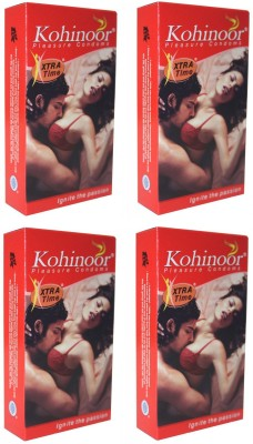 Kohinoor Extra Time Pleasure Condom(Set of 4, 40S)
