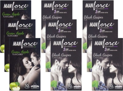 Manforce GreenApple, BlackGrape - CPFK2397 Condom