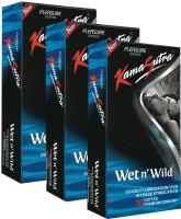 KamaSutra Platinum Wet n' Wild Monthly Combo Condom(Set of 3, 10S)