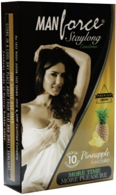 Manforce Staylong Pineapple 10s Condom(Set of 10, 10S)