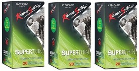 Kamasutra Superthin (3 pcak of 20pc) 60 Condom
