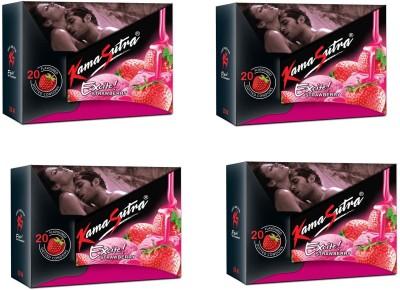 kamasutra excite-Strawberry Condom