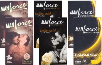 Manforce Jasmine, Butterscotch, Banana - CPFK1955 Condom
