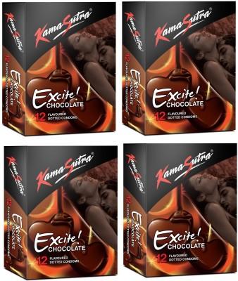 Kamasutra Excite-Chocolate 12's Condom