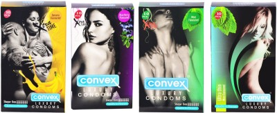 Convex Monthly Pack Combo Extratime Banana, Mint, Blueberry with Ultrathin Mint Condom
