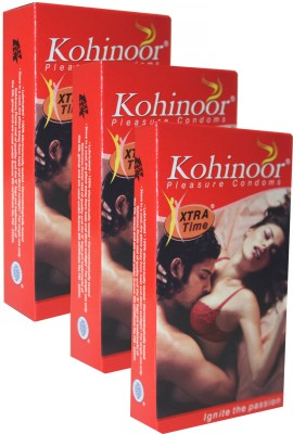 Kohinoor Xtra Time Monthly Combo Condom(Set of 3, 10S)