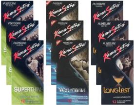 Kamasutra Superthin, Wet n Wild, Longlast - UPFK200327 Condom