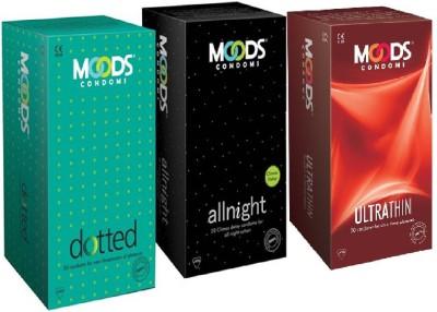 Moods Combine Combo 60pc (20'S X 3) Condom(Set of 3, 60S) at flipkart