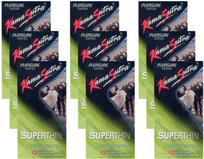 KamaSutra Superthin - UPFK200331 Condom(Set of 9, 108S) at flipkart