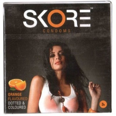Skore Skore Orange Flavoured Condoms 3s (Pack of 5) Condom(Set of 3, 15S)