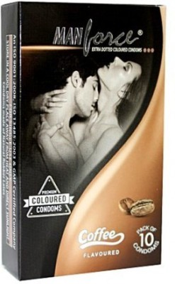 Manforce ManForce Extra Dotted Condoms - Coffee Flavor 10S Condom(Set of 10, 10S)