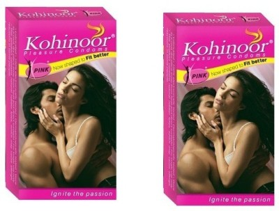 Kohinoor Pink Natural Shaped Better Fit Condom(Set of 2, 20S)