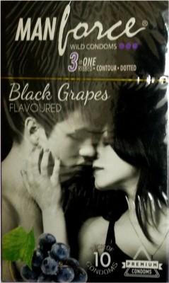 Manforce Black Grapes Condom(Set of 1, 10S)