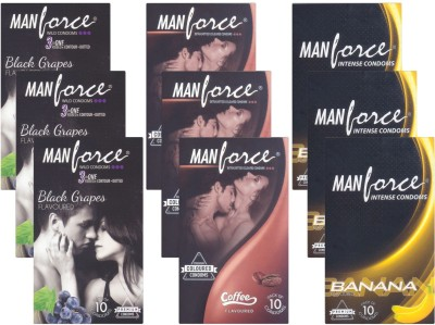 Manforce BlackGrape, Coffee, Banana - CPFK2196 Condom