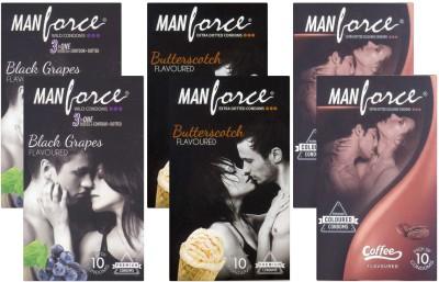 Manforce BlackGrape, Butterscotch, Coffee - CPFK1679 Condom
