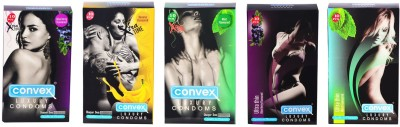 Convex Monthly Pack Combo Extratime Banana, Mint, Blueberry with Ultrathin Blueberry & Mint Condom