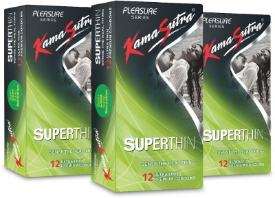 KamaSutra Superthin Monthly Combo Condom(Set of 3, 12S)