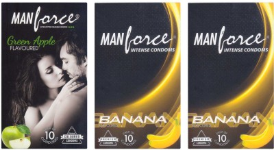 Manforce Green Apple, Banana, Banana Condom
