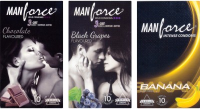 Manforce Chocolate, BlackGrape , Banana Condom