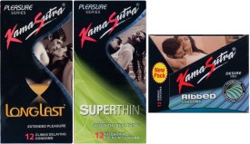Kamasutra Longlast, Superthin, Ribbed Condom