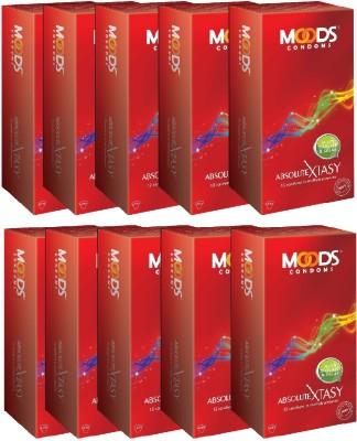 Moods Xtasy Condom(Set of 10, 120S) at flipkart
