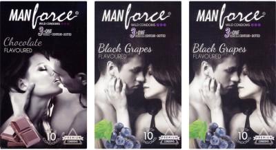 Manforce Chocolate, BlackGrape , BlackGrape Condom