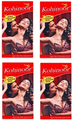 Kohinoor Extra Time With Dots Pleasure Dotted Condom(Set of 4, 40S)