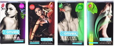 Convex Monthly Pack Combo Extratime Chocolate, Mint, Blueberry with Ultrathin Mint Condom