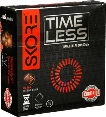 Skore Champion Time Less Condoms 3s (Pack of 3) Condom(Set of 3, 9S)