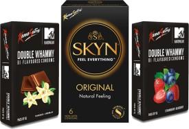 KamaSutra SKYN Double Whemmy Condom(Set of 3, 30S)