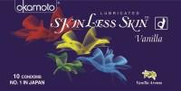 Okamoto Skinless Skin Ultra Thin Vanilla Condom(Set of 4, 40S)