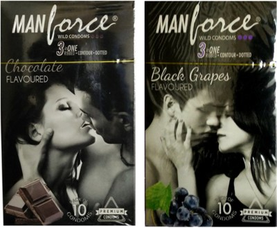 Manforce Chocolate Black Grapes Condom