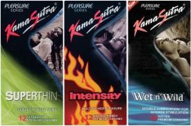 Kamasutra Superthin, Intensity, Wet n Wild Condom